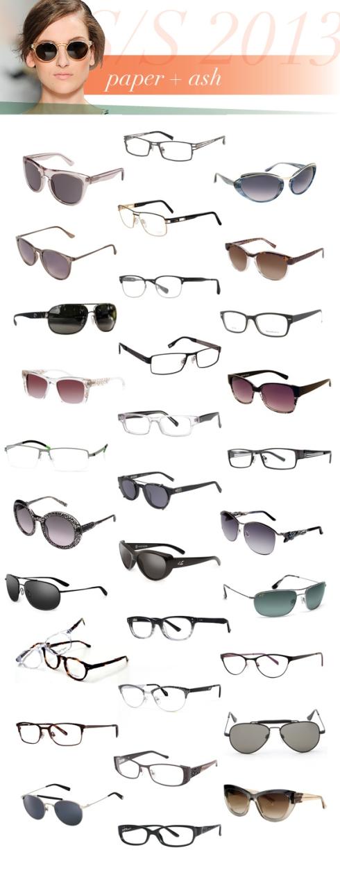 Από αριστερά προς τα δεξιά και από πάνω προς τα κάτω τα γυαλιά είναι: 3.1 Phillip Lim, Orbit; Amadeus Eyewear, A944; Badgley Mischka, Paulette; Carlos Santana, 11005; CAZAL, 7034; Cole Haan, CH612; Costa Sunglasses, Conch; Dakota Smith Los Angeles, Innovative; Dolabany Eyewear, Albert; ete, Ischia; EVATIK, 9063; Foster Grant, Mingle; Free Form Eyewear, FFA902; Genius Eyewear, G500; Helium, HE-4205; Jason Wu, Newtom; John Varvatos, V353; Judith Leiber, JL-1646; Kaenon, Driver; Kaenon, KAT-i; Maui Jim, Hideaways; Miyagi Eyewear, Kent; Modern Art, A336; Monalisa Eyewear, M8811; Original Penguin, The Chester; Plume Paris, Calais; Randolph Engineering, SP72411; Trussardi, TR12912; Tura, R406; Vera Wang, Ritva; Vivian Morgan, VM8023